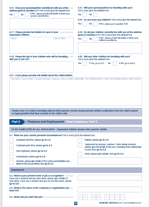 uk visit visa application part5