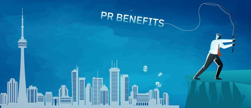 illustration showing benefits of getting Canada PR visa for Skilled Professionals