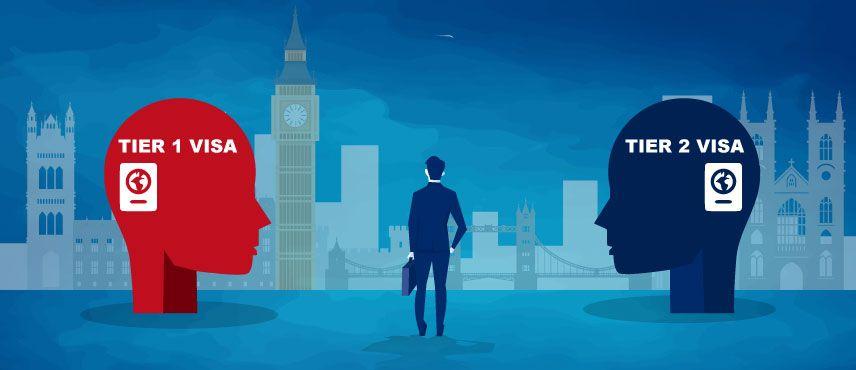 UK Tier 1 vs Tier 2 Visa: Comparisons, Costs and more!